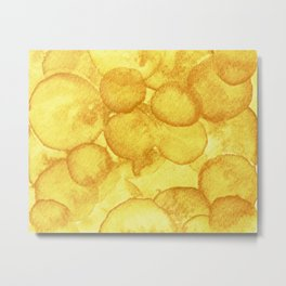 Aureolin Yellow Watercolour Metal Print