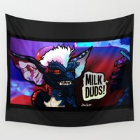 milk Wall Tapestries featuring Milk Duds by BinaryGod.com
