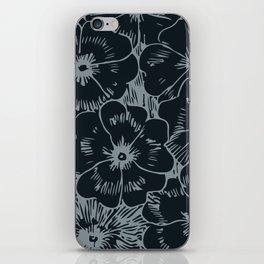 Dark Fall Floral iPhone Skin