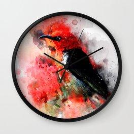 Colibri flight Wall Clock