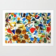'Glass Mosaic' Art Print
