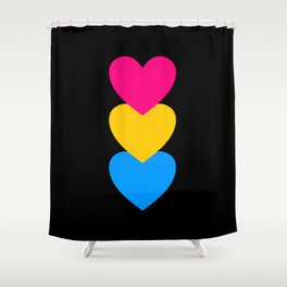 Pansexuality in Shapes Shower Curtain