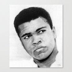 Muhamad Ali Portrait Canvas Print