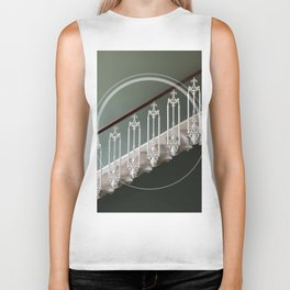Stairway to heaven - circle graphic Biker Tank