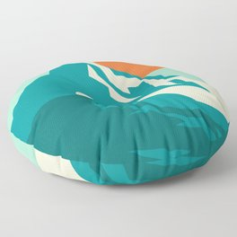 As the sun rises over the peak Floor Pillow
