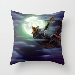 Sunny in the moon Throw Pillow