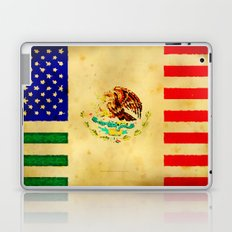 MEXICAN AMERICAN FLAG - 017 Laptop & iPad Skin
