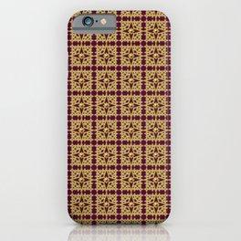 Golden Star Mosaic iPhone Case