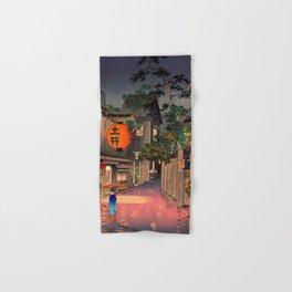 Tsuchiya Koitsu - Evening at Ushigome - Japanese Vintage Woodblock Painting Hand & Bath Towel