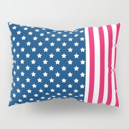 Abstract Patriotic pattern . Pillow Sham
