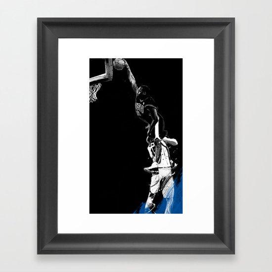 Vince Carter Olympic Dunk Framed Art Print