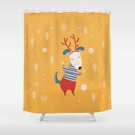 Merry Christmas card 4 Shower Curtain