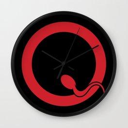 Spermy Q Wall Clock