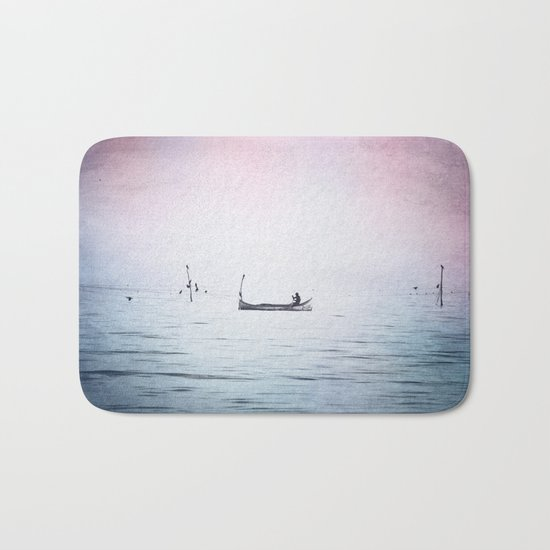 The Lonely Man and The Infinite Sea Color Version Bath Mat