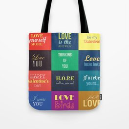 love messages Tote Bag