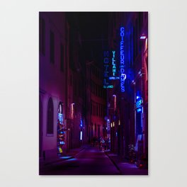 purple vibes in rome Canvas Print
