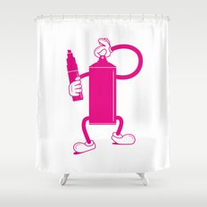 Mr Spray Can Shower Curtain