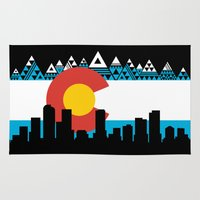 colorado Area & Throw Rugs featuring COLORADO by Love Life Creative