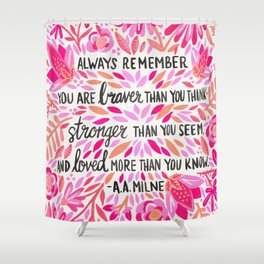 Always Remember – Pink Ombré Palette Shower Curtain