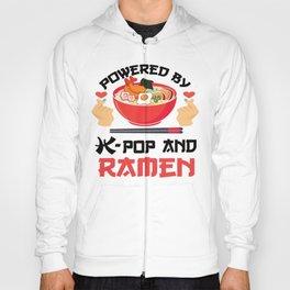 POWERED BY K-POP AND RAMEN, K-POP Finger Heart  Hoody