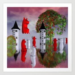 guardians of chess castle Art Print