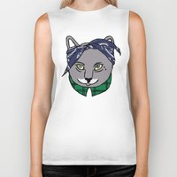 archer Biker Tanks featuring Archer by YEAH RAD STOKED