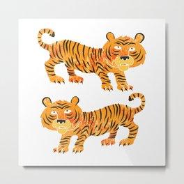 chinese tiger Metal Print