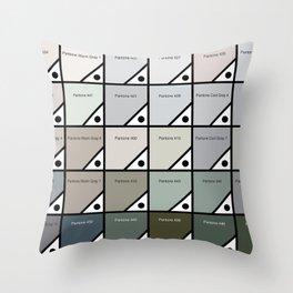 50 Shades Of Pantone Grey Throw Pillow