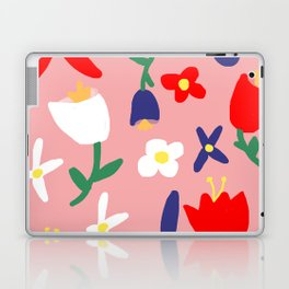 Large Handdrawn Bacchanal Floral Pop Art Print Laptop & iPad Skin