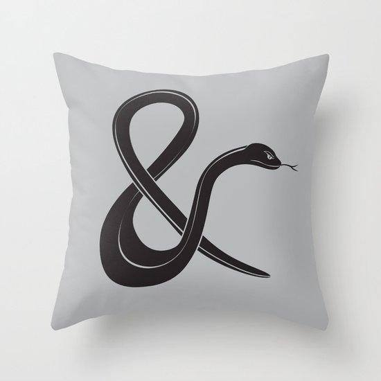 ampersssssand Throw Pillow