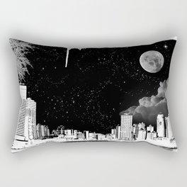 The city at night.. Rectangular Pillow