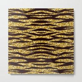 Golden tiger print, tiger stripes, tiger skin pattern, tiger fur, tiger pattern, desert pattern Metal Print