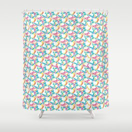 Geometric retro harlequin net seamless pattern. Shower Curtain