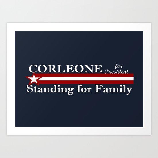 Corleone Standing for Family Art Print