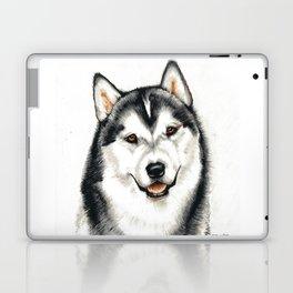 Portrait of a Husky Dog Laptop & iPad Skin