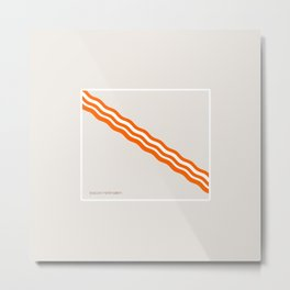Minimalist Bacon Metal Print