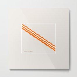 Minimalist Bacon Metal Print