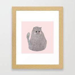 bitter kitty Framed Art Print
