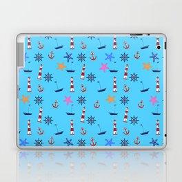 Nautical Beach Pattern Laptop & iPad Skin