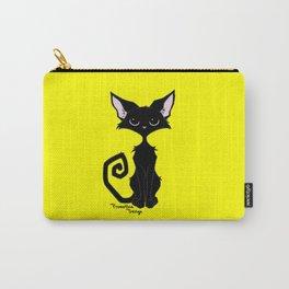 Black Cat - Lemon Yellow Carry-All Pouch