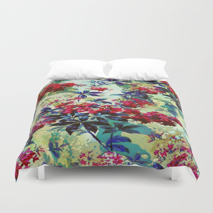 pretty red flowers Duvet Cover