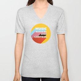 MUSIC MAKES ME - TYPOGRAPHY Unisex V-Neck