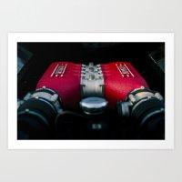 ferrari Art Prints featuring Ferrari by Grafiko