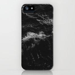 Dark Ocean in Black and. White iPhone Case