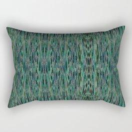 Vertical Forest Green Abstract Rectangular Pillow