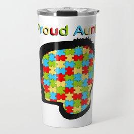 Proud Aunt Autism Awareness Travel Mug