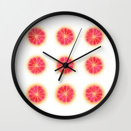 RUBY RED REPEAT Wall Clock