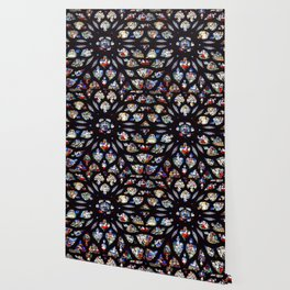 Stained glass sainte chapelle gothic Wallpaper