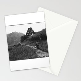 Coal Loader on His Way Home After Work Stationery Cards