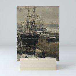 The Thames In Ice - James Abbott McNeill Whistler 1860 Mini Art Print